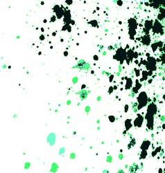 Colorful acrylic paint splatter on white backgroun vector image
