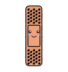Cure bandage kawaii character vector