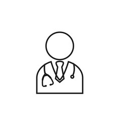 doctor icon design template isolated vector image
