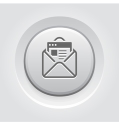 Email Marketing Icon Grey Button Design vector