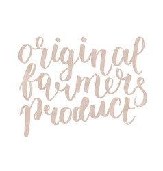 farmer s market label original farmers product vector image