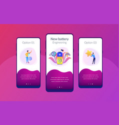 Fast charging technology app interface template vector