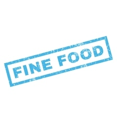 Fine Food Rubber Stamp vector