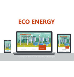 flat alternative eco energy concept vector image