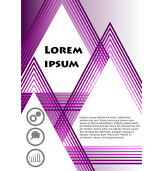 flyer cover leaflet book bill template in vector image