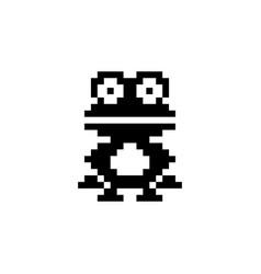 Frog pixel icon animal vector