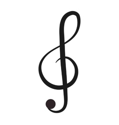 g clef note icon vector image
