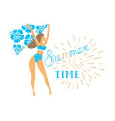 girl in bikini for banner vector image