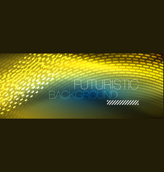 glowing light particles in dark neon space magic vector image