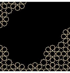 gold and black mosaic moroccan zellige vector image