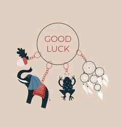 Good luck keychains vector