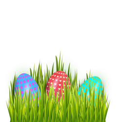 happy easter colorful painted eggs isolated on vector image