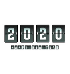 happy new year 2020 flip board design for holiday vector image