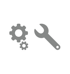 icon concept of gears with spanner vector image