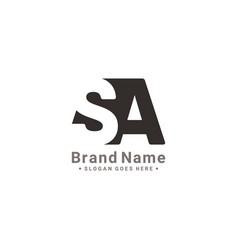 Initial letter sa logo - minimal logo vector