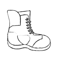Isolated boot of winter cloth design vector