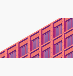 isometric building facade vector image
