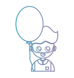 line man with hairstyle and balloon design vector image