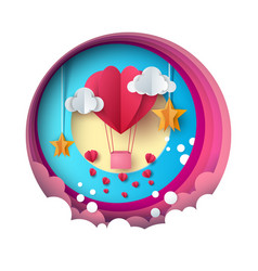 love balloon valentine s day cloud vector image