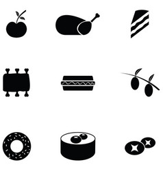 lunch icon set vector image