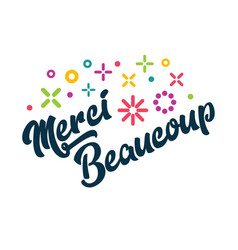 Merci beaucoup french thank you greeting card vector