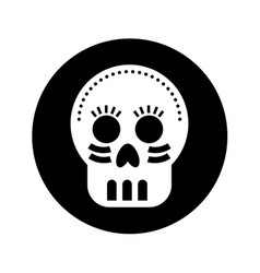 Mexican skull mask icon vector
