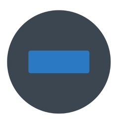 Minus flat smooth blue colors round button vector