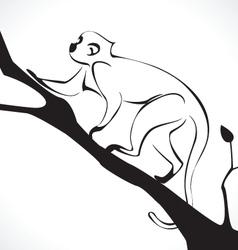 monkey 2 vector image