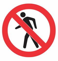 no pedestrian sign vector image