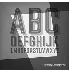 Old film noir styled alphabet vector