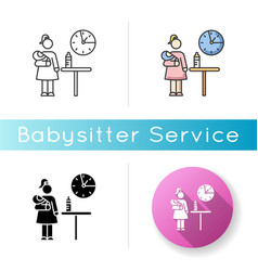 Part time babysitter icon babysitting service vector