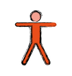 Pictogram man icon image vector