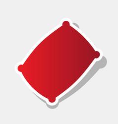 Pillow sign new year reddish vector