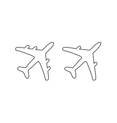 plane linear icons set elements for design vector image