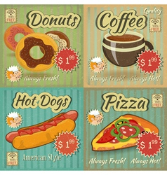 Retro Menu vector