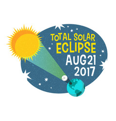 Retro science solar eclipse vector
