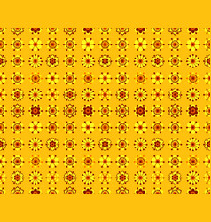Seamless pattern of vintage yellow flowers vector