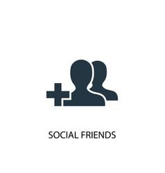 Social friends icon simple element vector