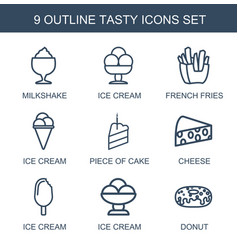 tasty icons vector image
