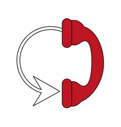Telephone circule flat vector