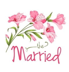 The married card vector image