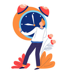 time concept isolated abstract icon alarm clock vector image