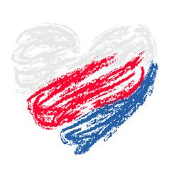 Tricolor heart square background vector