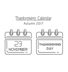 usa thanksgiving 2017 vector image