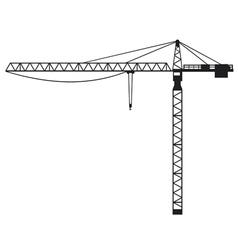 Building crane vector image vector image