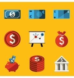 Flat icon set Money vector image vector image