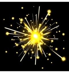 Glowing party sparkler vector image