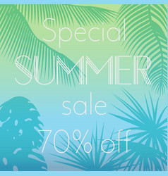 special summer sale text on vector image