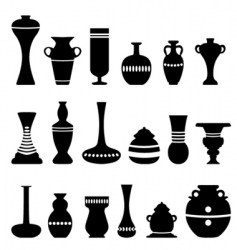 decorative vase vector image vector image