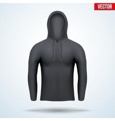 Hoodie black design templates vector image